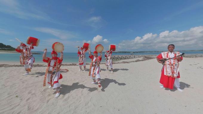 ▲琉球伝統歌舞集団「琉神」による琉球舞8KVR「ryukyu」