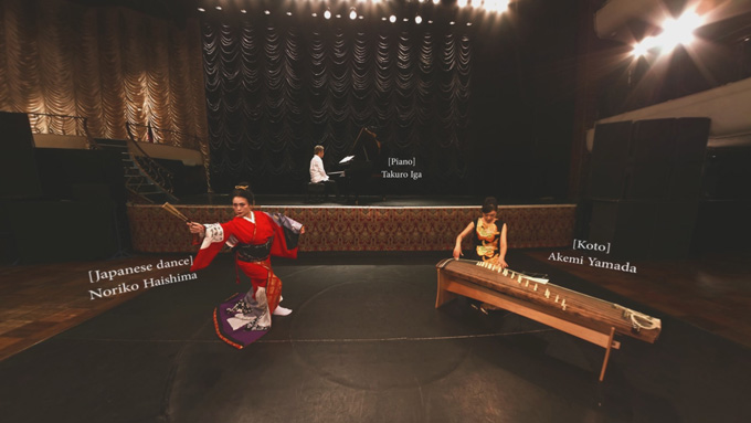 ▲蓜島邦明氏が音楽監督を務める和と洋のコラボレーション音楽舞踏VR「QUARTET 360」