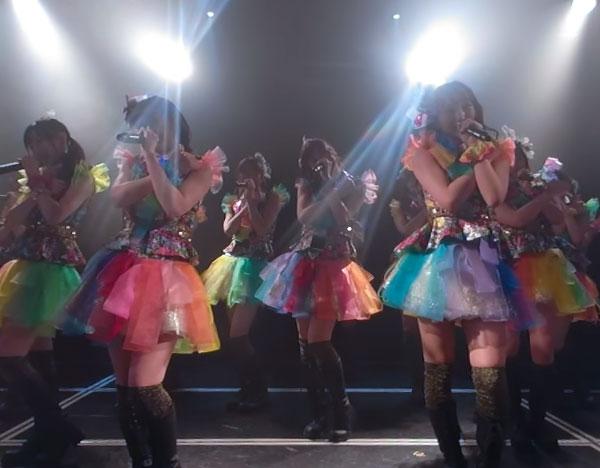 , VRでNMB48を体感!劇場公演を最前列センター席 (小嶋チームBII 2番目のドア公演「法定速度と優越感」) / NMB48