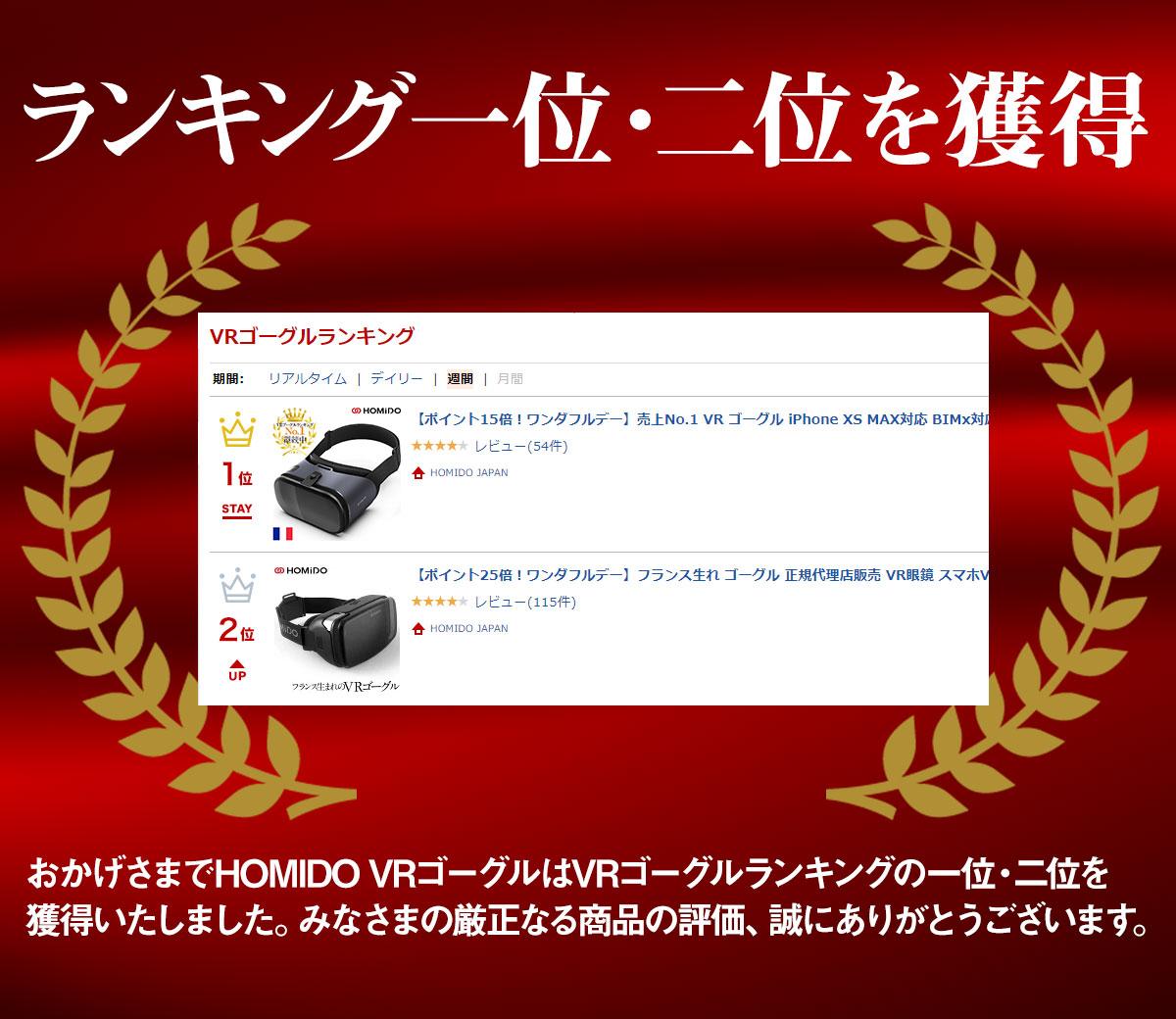 楽天市場 VRゴーグル部門 No.1